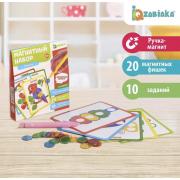 Магнитный набор «Мозаика», цвета, формы, магнитная ручка, фишки, задания, по методике Монтессори
